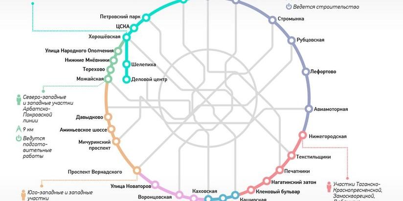 Новые станции метро в Москве в 2018 году на карте, схема метро